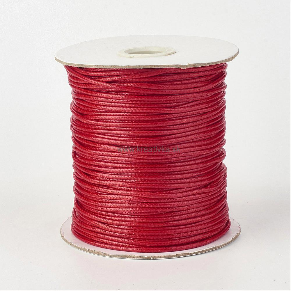 ee9b633584 Šnúra voskovaná lesklá priemer 1mm NEW červená 1m