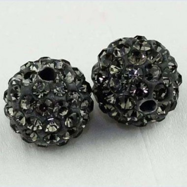 Shamballa 10mm sivá 1ks