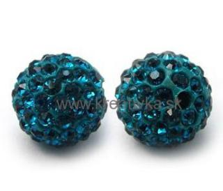 Shamballa 10mm tyrkys 1ks