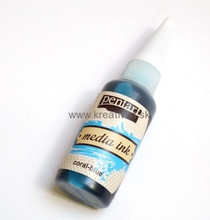 Media atrament 20ml coral blue-bl. modrá